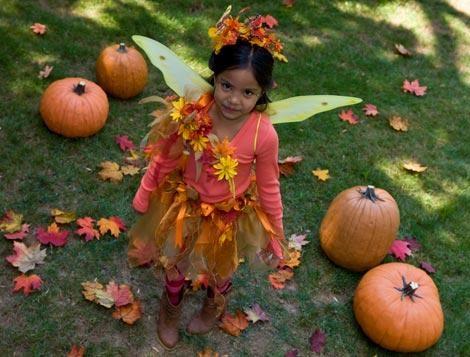 disfraces halloween niños hada otoño