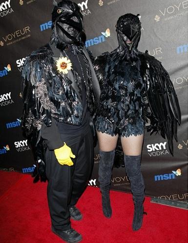 disfraces halloween parejas cuervos