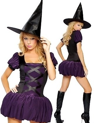disfraces Halloween sexys mujer morado