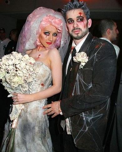 disfraces parejas famosos christina aguilera