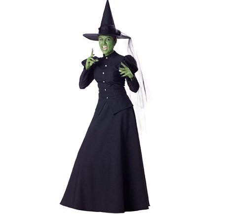 disfraz bruja halloween mala