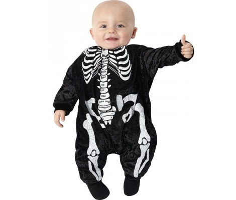 disfraz halloween bebe esqueleto