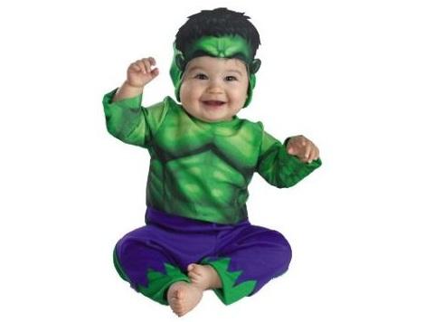 disfraz halloween bebé hulk