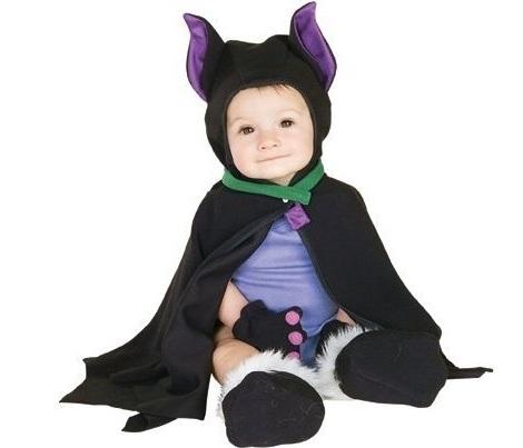 disfraz halloween bebé murciélago