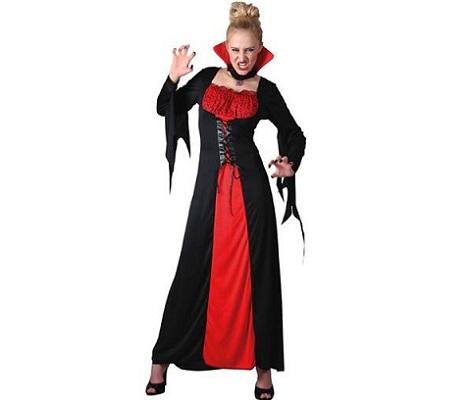 disfraz vampiresa cordones