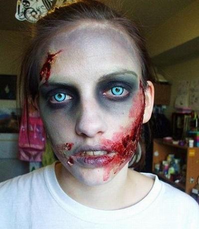 disfraz zombie heridas