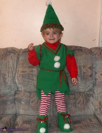 disfraces caseros navidad elfo