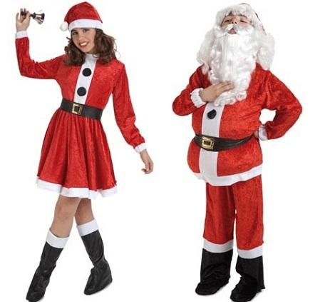 disfraz navidad niño papa noel