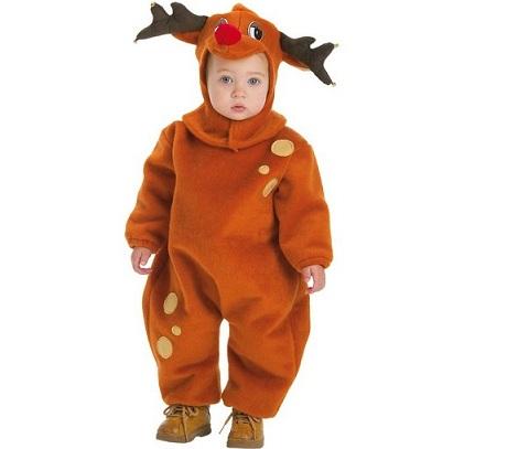 disfraz navidad niño reno