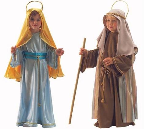 disfraz navidad niño virgen san jose