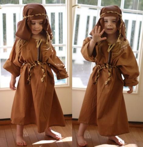 disfraz pastor casero polainas