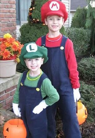 los mejores disfraces caseros de niños mario bros