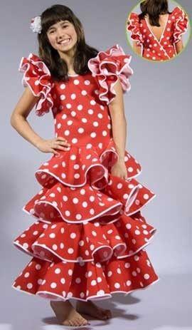 Disfraz de sevillanas para niña