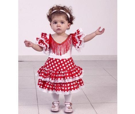 Disfraz de sevillanas para bebé