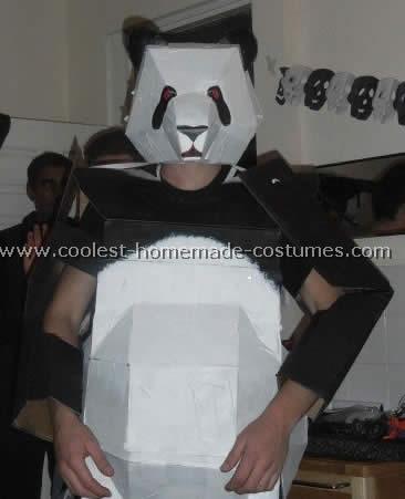 disfraz casero de oso panda