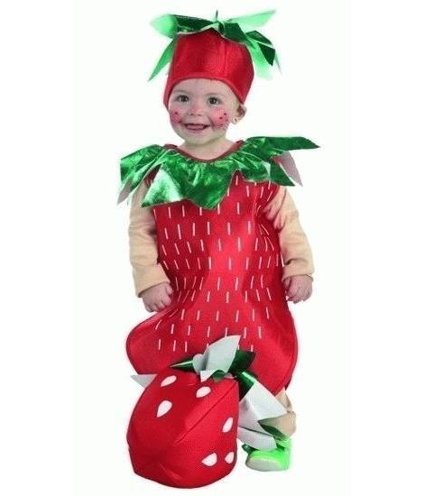 Disfraz de fresita para bebé