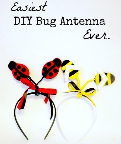 como hacer unas antenas de abeja para niña