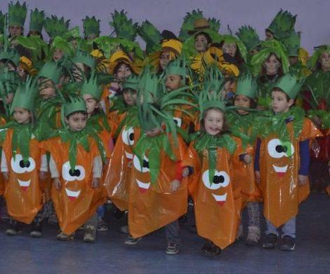 hacer disfraces caseros para colegios zanahorias