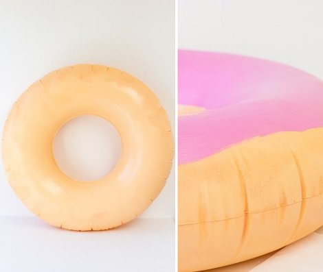 pintar  disfraz casero de donut