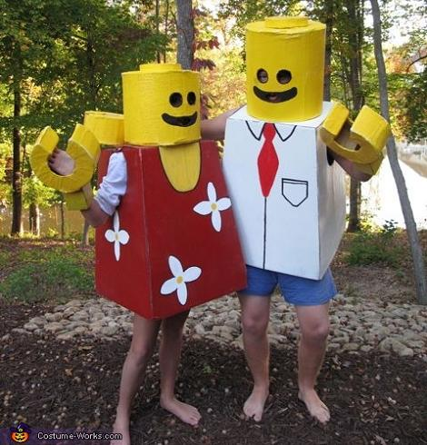 Disfraz de pareja Lego