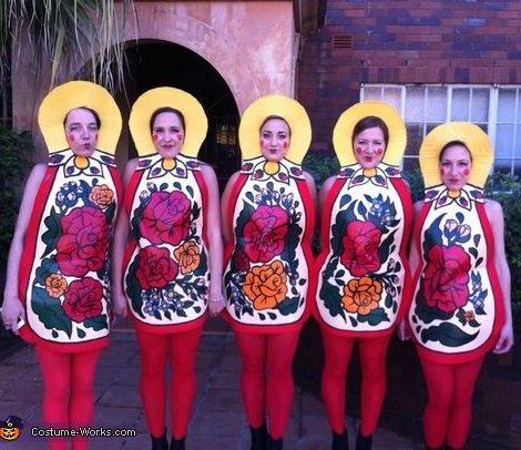 disfraz de matryoshka para grupos carnaval 2014