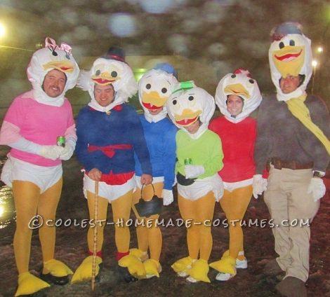 disfraz de pato donald para grupos carnaval 2014