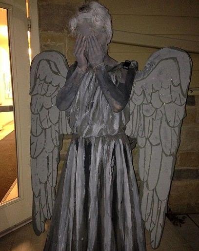 disfraz casero de estatua