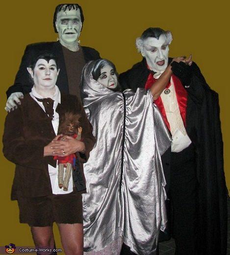 disfraces caseros para grupos halloween 2013 familia adams