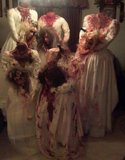 disfraces caseros para grupos halloween 2013 novias cadaver