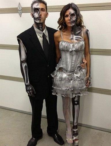 disfraz de esqueletos