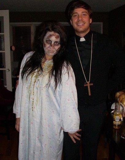 disfraces caseros para parejas niña del exorcista