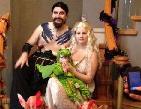 disfraces caseros de juego de tronos para parejas