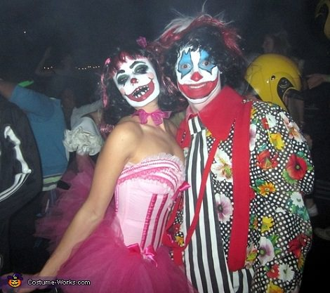 disfraces caseros para parejas payasos diabolicos
