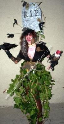 disfraz de halloween casero de tumba