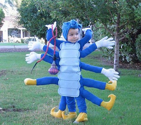 disfraz de cienpies halloween 2013