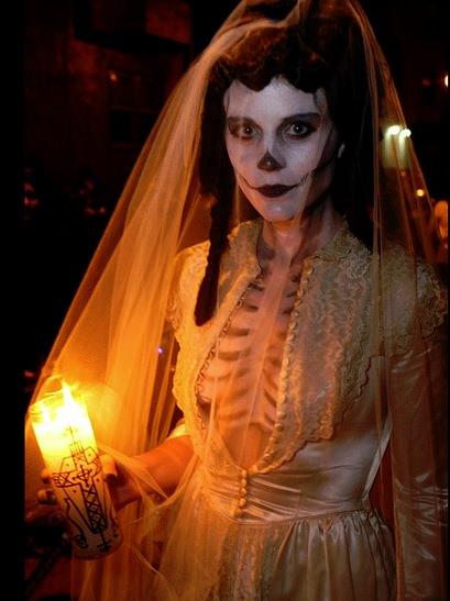 disfraz de novia cadaver casero