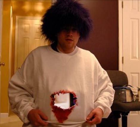 disfraces sencillos para halloween; agujero