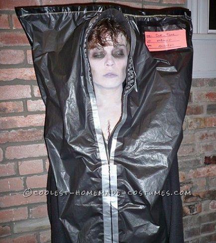 disfraces sencillos para halloween; cadaver