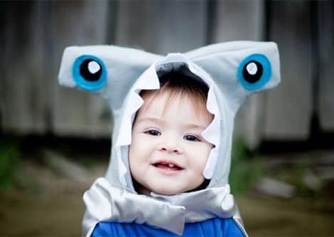 disfraz de pez martillo para niño