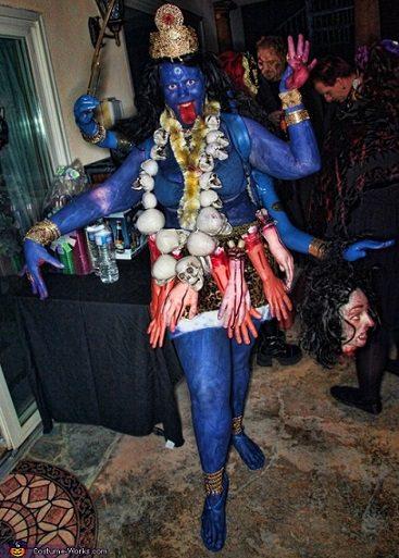 disfraz de diosa kali casero halloween 2013