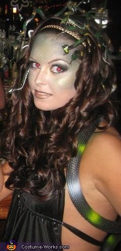 disfraz de medusa casero halloween 2013