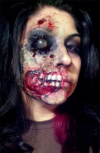 los disfraces más terroríficos de halloween zombie dientes