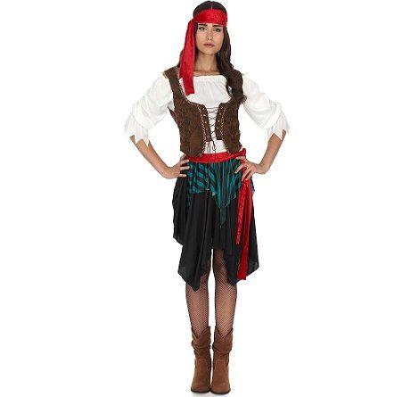 Disfraz de pirata para mujer - Disfraces caseros adulto ...