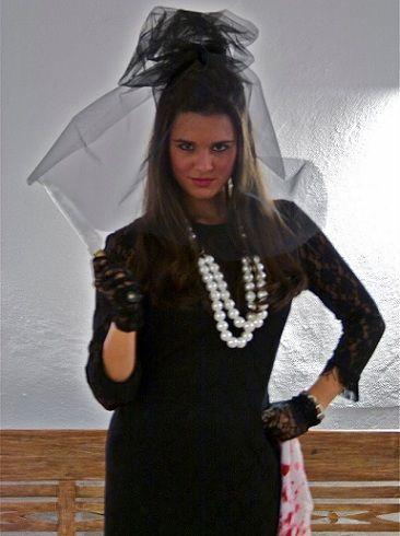 disfraz de viuda