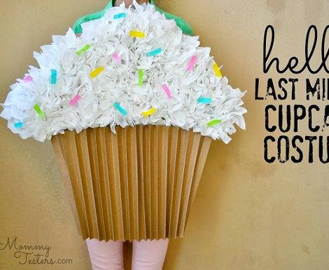 disfraz de papel de cupcake