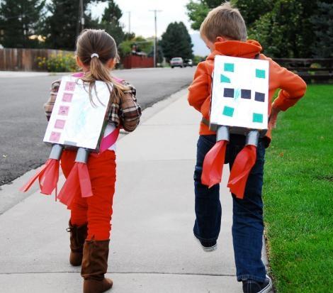 disfraces con materiales reciclados para niños