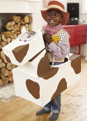 disfraz de carton para niños