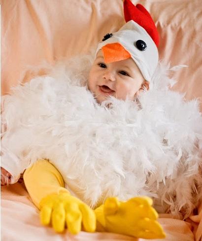 Disfraz de pollito casero para niños