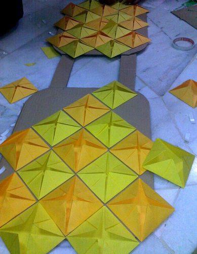 Disfraz De Piña Casero Con Materiales Reciclados