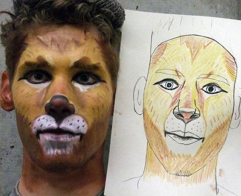 como hacer un maquillaje de leon o tigre